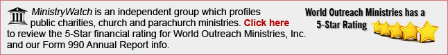 World Outreach Ministries has a 5-Star rating