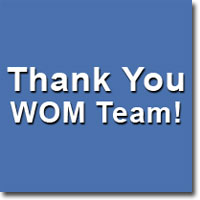 Thank You WOM Team